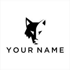 Wolf vector logo graphic modern abstract