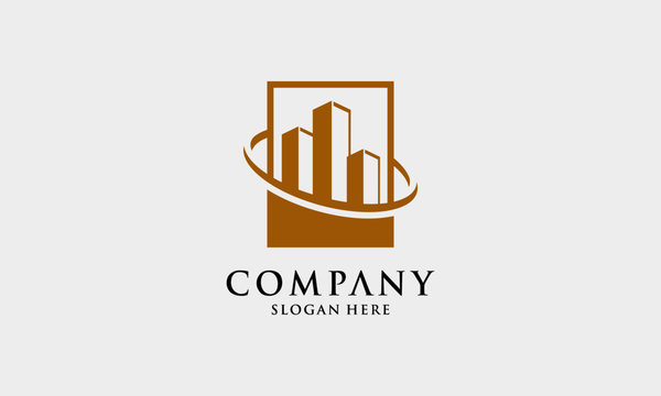 Luxury apartment icon vector design Template. Real estate. Elegant simple bulding - vector