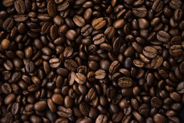 Poster de jardin Café en grains coffee beans background