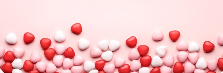 Heart Candy background Fototapete