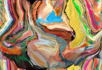 Zelfklevend Fotobehang Paradijsvogel Abstract design with art and texture elements