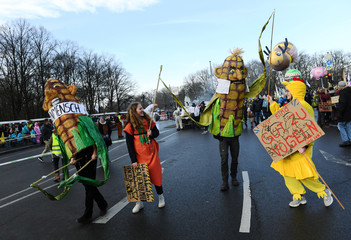 Demonstration against the government's agricultural policies at the start of the International Green Week agriculture and food fair in Berlin