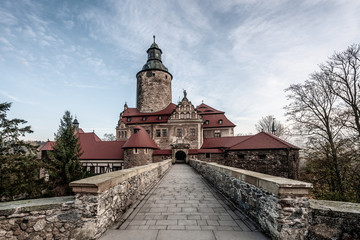 Panoramic view on the castle Czocha, Poland
