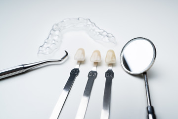 Dental Mirror Clear Aligner And Shade Matching