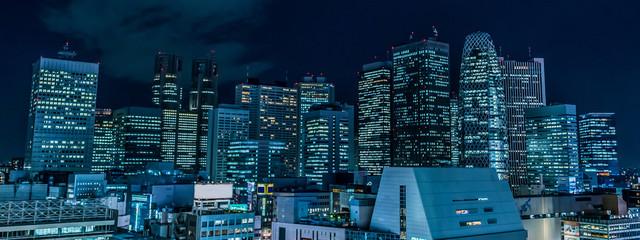 Poster Bangkok 東京 新宿 西新宿の高層ビル 夜景 ~Tokyo Japan Shinjuku Skyscraper Night View~