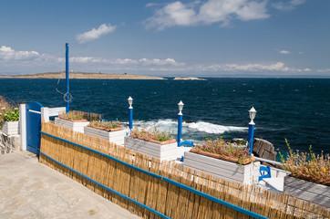 Bulgarian seaside landscapes, beautiful beach near Sozopol
