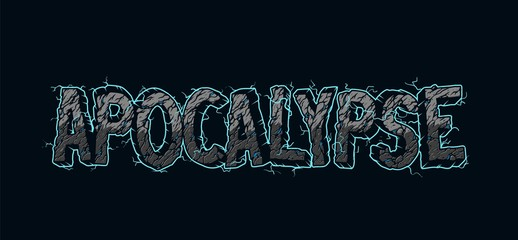 Vintage electric Apocalypse lettering Wall mural