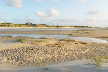 Fototapete - Dünenlandschaft an der Nordsee bei Ebbe