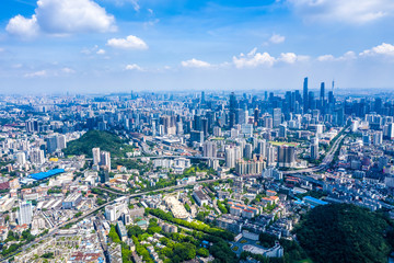 overlooking city of Guangzhou in China Fotomurales