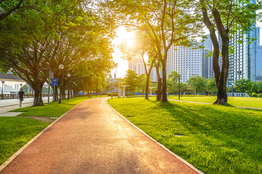 park in city of Guangzhou in China