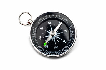 compass on white background.Isolated