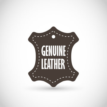 Genuine Leather vector sign