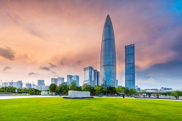 square and building in city of China
