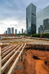 Construction site in city of China
