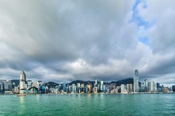 Victoria harbor view in Hong Kong China