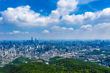overlooking city of Guangzhou in China