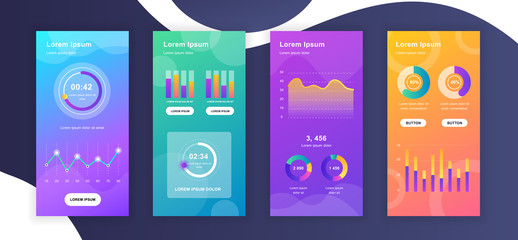 Social media stories design templates whith infographic elements data visualization. Can be used for social media background, banner, greeting card, poster and advertising, marketing, info graphics. Wall mural