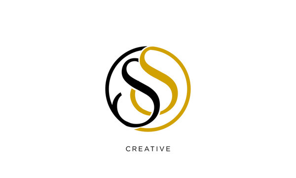 ss logo design vector icon luxury premium
