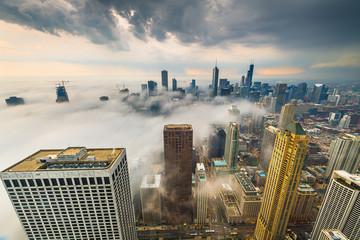 Chicago, IL, USA Misty Skyline