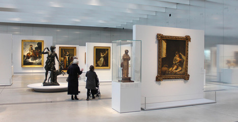 Lens, France - january. 18, 2019 : The Gallery of Time in the Louvre-Lens Museum in north of France
