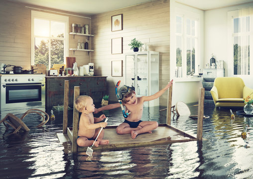 kids and flooding