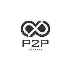 P2P infinity logo design, PP monogram