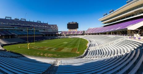 Ft. Worth, TX/ USA - January 11, 2020: Amon G. Carter Stadium on the Campus of Texas Christian University, TCU.
