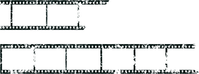 analog b/w neagtiv film with empty frames,grungy photo filmstrips with free copy space,vector,fictional artwork