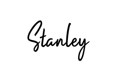 Stanley capital word city typography hand written text modern calligraphy lettering Fotomurales