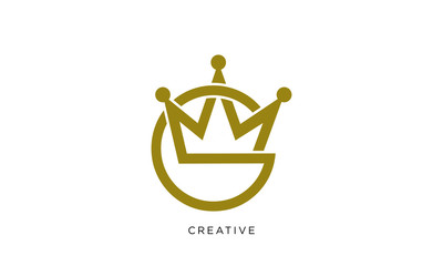 g crown logo design vector luxury