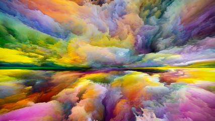 Obraz Virtual Land and Sky - fototapety do salonu