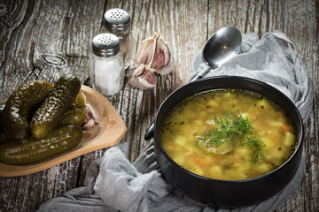 Vegetarian cucumber soup.