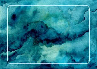 indigo abstract watercolor texture background