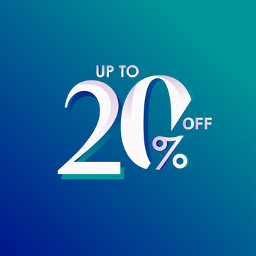 Discount up to 20% off Vector Template Design Illustration