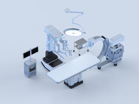 Hospital surgery room isometric