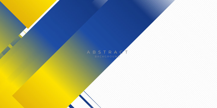 Blue yellow white abstract background suit for presentation design