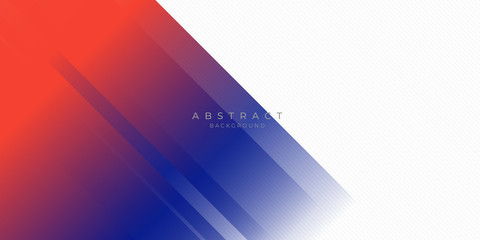 Poster Abstract wave Modern red blue abstract background with stylish line square suit for presentation design