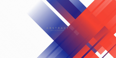 Modern red blue abstract background with stylish line square suit for presentation design