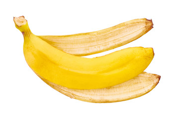 Fototapeta banana peel isolated obraz
