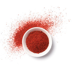Bright red hot chilli pepper spice for tasty cooking