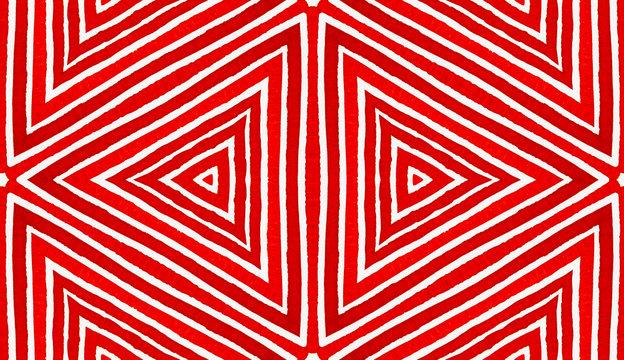 Wine red Geometric Watercolor. Amusing Seamless Pa