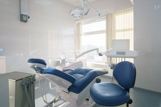 Photo overlooking the dental office, chair