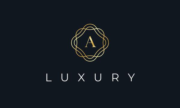 Elegant Luxury Letter A Logo Alphabet Boutique Fashion Wedding Event Design Template