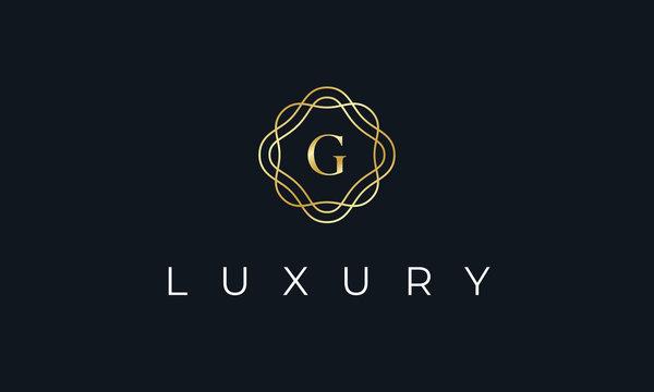 Elegant Luxury Letter G Logo Alphabet Boutique Fashion Wedding Event Design Template