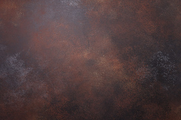 Foto auf AluDibond Metall Brown rusty metal texture background