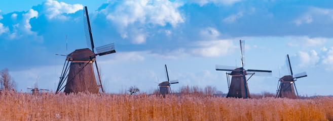 Windmill holland UNESCO World Heritage Kinderdijk Fototapete