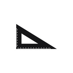 Ruler icon design isolated on white background. Vector illustration