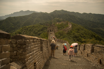 Foto op Canvas Chinese Muur The great chineese wall in mutianyu