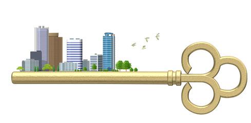 鍵の都市風景B