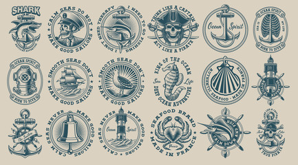 The biggest bundle of vintage nautical vectors